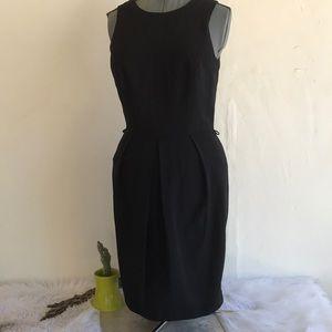 Virgo Brand Dress Sleeveless Pleated Black
